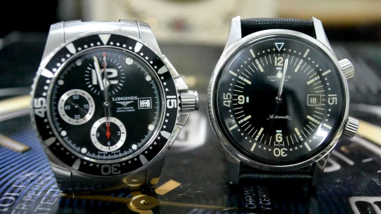 Longines Hydroconquest & Legend Diver Changing Date