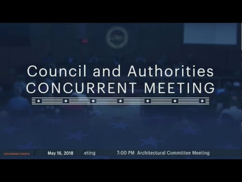 Council and Authorities Concurrent Meeting 20180515