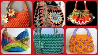 Beautiful latest stylish crochet handbag collection