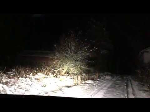 New Years& Christmas Holidays Winter Forest Snow Evening Drive Home iPhone11 Pro 4K 5Gnets 5GAndroid