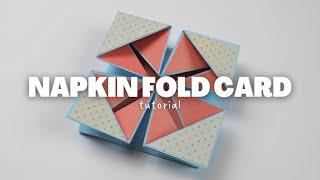 NAPKIN FOLD CARD TUTORIAL | SCRAPBOOK IDEAS