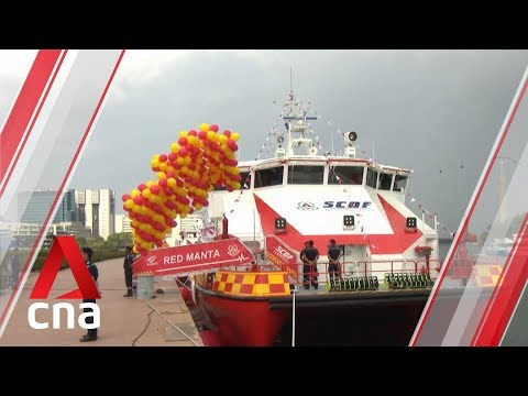 Singapore Civil Defence Force commissions three new vessels to deal with maritime incidents