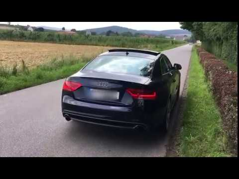 audi a5 3 0 tdi active sound downpipe remap youtube. Black Bedroom Furniture Sets. Home Design Ideas