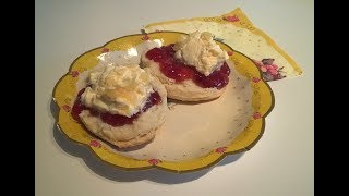 How to make traditional British scones for cream tea and afternoon tea