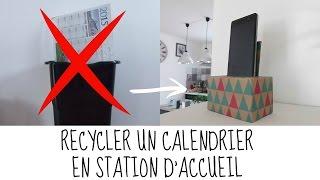 Recyclage calendrier #1 : Station accueil téléphone