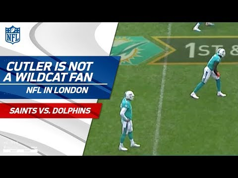 Jay Cutler is NOT About this Wildcat Formation | Saints vs. Dolphins | NFL in London