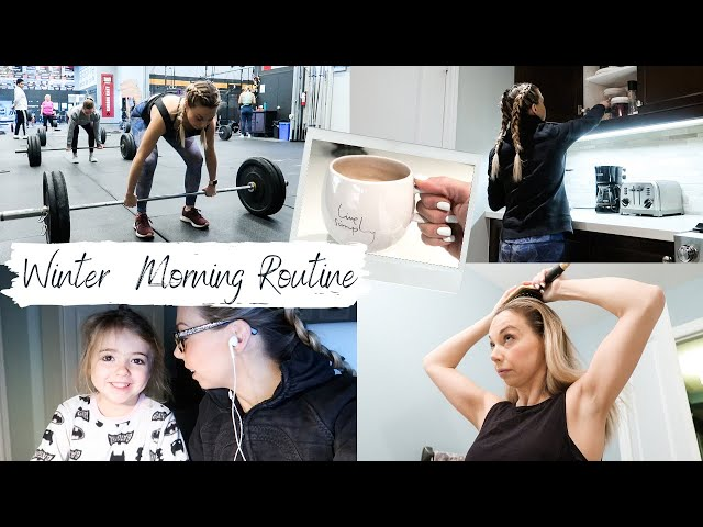 Winter Morning Routine 2020 | Four Kids, CrossFit, Work & School