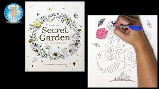 Secret Garden Artist's Edition by Johanna Basford Adult Coloring Book Mums - Family Toy Report
