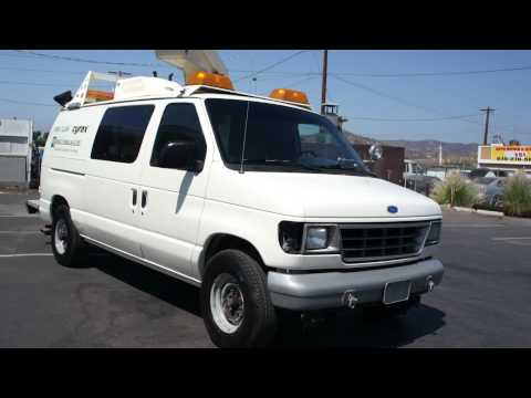 1993 Ford E-350 Econoline Bucket Truck Van For Sale