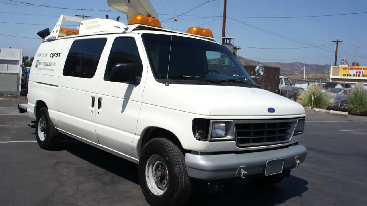 1993 Ford E 350 Econoline Bucket Truck Van For Sale Youtube