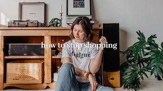 HOW TO STOP SHOPPING | 5 TIPS TO STOP SPENDING MONEY ON THINGS YOU DON'T NEED 💸