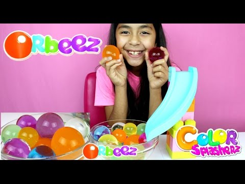 GIANT MAGIC ORBEEZ!! Slide Play with Magic Jumbo Water Balz  B2cutecupcakes