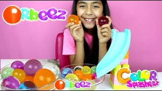 GIANT MAGIC ORBEEZ!! Slide Play with Magic Jumbo Water Balz| B2cutecupcakes