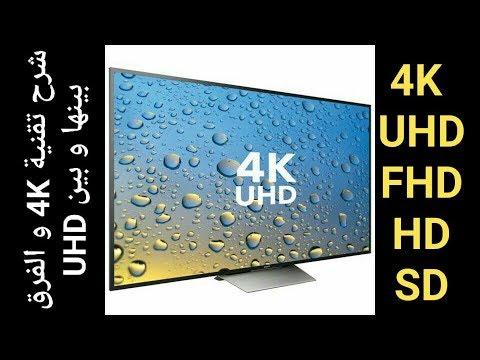 إفهم جيدا تقنية  4K و الفرق بين تلفزيون UHD و FHD و ايضا HD و SD