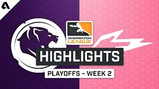 LA Gladiators vs Hangzhou Spark | Playoffs Week 2 | Day 1 - Overwatch League S2 Highlights