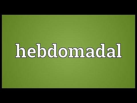 Header of hebdomadal