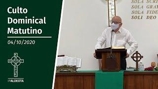 Culto Vespertino (04/10/2020) - Rev. Edenildo