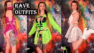 New Rave outfits for the Excision Show this weekend! | Try on haul
