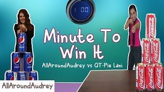 Minute To Win It Challenge w/ QT-Pie Lani l AllAroundAudrey