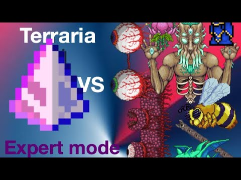 Terraria mobile 1.3.0.7.5 Last prism vs all bosses expert mode