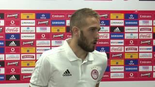Δηλώσεις Φορτούνη (Ολυμπιακός-Μπέρνλι) - Fortounis statements (Olympiacos-Burnley FC)