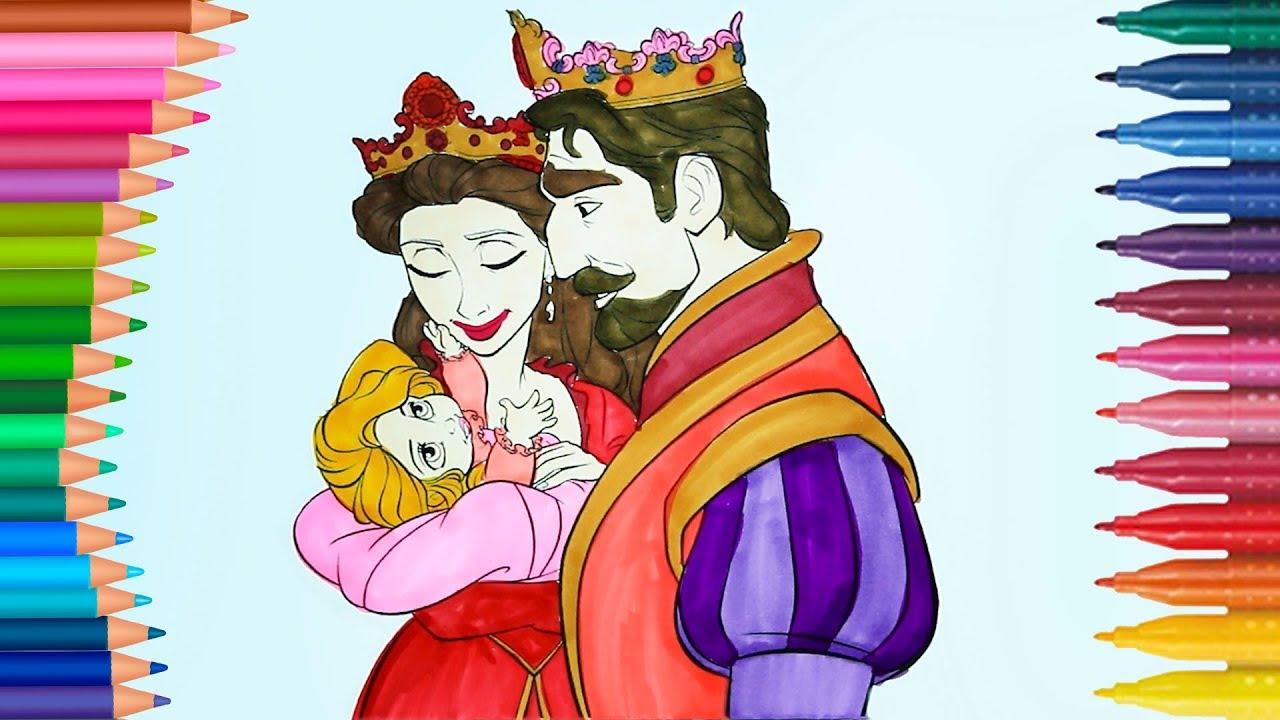 Princesa Bebé Rey Y Reina Dibujos Para Niños Learn Colors