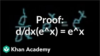proof d dx e x e x   taking derivatives   differential calculus   khan academy