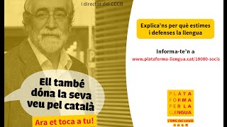 Vicenç Villatoro dóna la seva veu pel català!