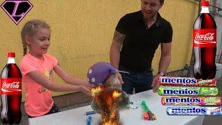 ЭКСПЕРЕМЕНТ КОЛА МЕНТОС ШАРИКИ Top Mentos and Coca Cola vs Water Balloon Experiment 2017 Challenge