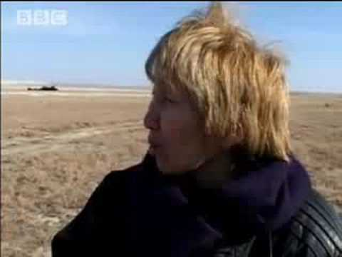 Weird! Driving across the Aral Sea bed - Holidays in the Danger Zone: Meet the Stans - BBC travel & politics