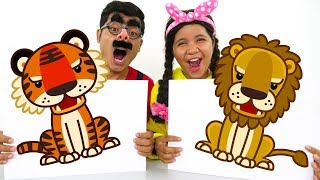 Learn Colors and Animal Names with Finger Paint Colours for Kids #5