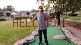 MINIATURE GOLF CHALLENGE ON THE HELL HOLE!