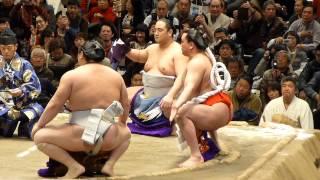 2013年2月10日(日)、日本大相撲トーナメント第37回大会に行って来ました! 最初に東から白鵬の土俵入り、次に西から日馬富士の横綱土俵入り...