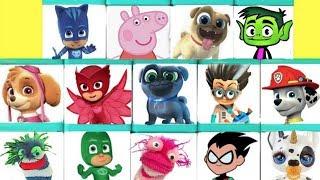 Cajas Sorpresa con Juguetes de Paw Patrol PJ Masks Puppy Dog Pals y Teen Titans GO!