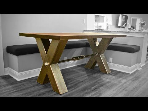 Industrial Farmhouse Table | DIY
