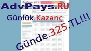 advpays ru ile günde garanti 325 TL! Detaylı Anlatım - Para Çekme ( İnternetten Para Kazanma )