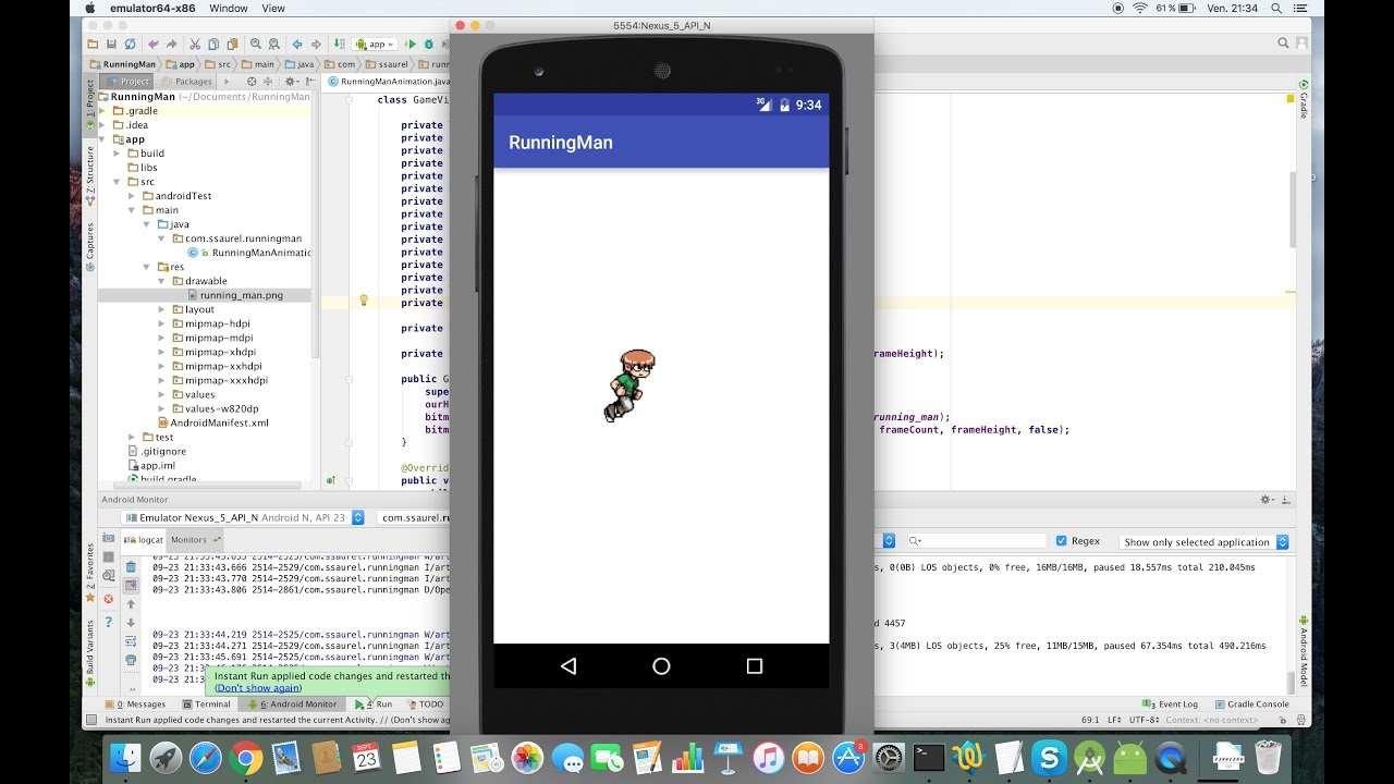Create a Running Man Game Animation on Android
