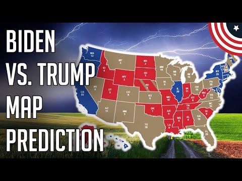 My Updated Biden Vs. Trump 2020 Prediction Electoral Map Projection - 2020 Election Prediction Map