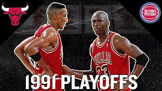 Highlights: MJ and Scottie Pippen DOMINATE  '91 Detroit Pistons | 1991 NBA PLAYOFFS