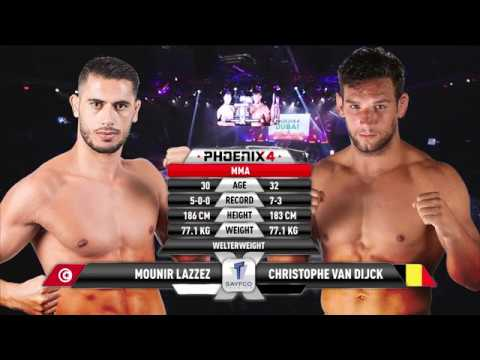 Mounir Lazzez vs Christophe Van Dijck Full Fight (MMA) | Phoenix 4 Dubai | December 22nd 2017.
