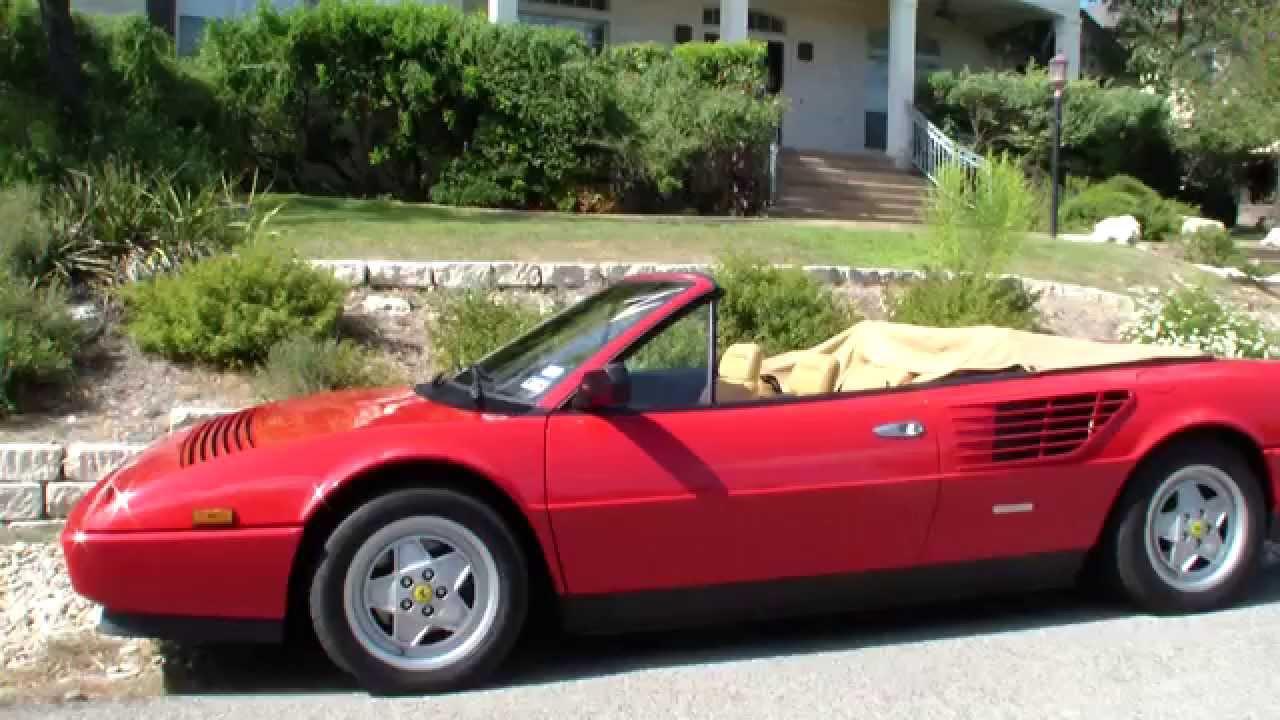 crazy ride in a ferrari mondial 3 2 cabriolet youtube. Black Bedroom Furniture Sets. Home Design Ideas
