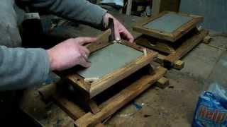 Как я делал деревянный светильник(Сделал два деревянных светильника из расстрескавшихся досок ясеня и обрезков зеркала., 2015-01-17T14:26:59.000Z)