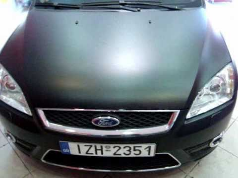 Car Wrapping Greece Black Matte Cars Ford Focus Youtube