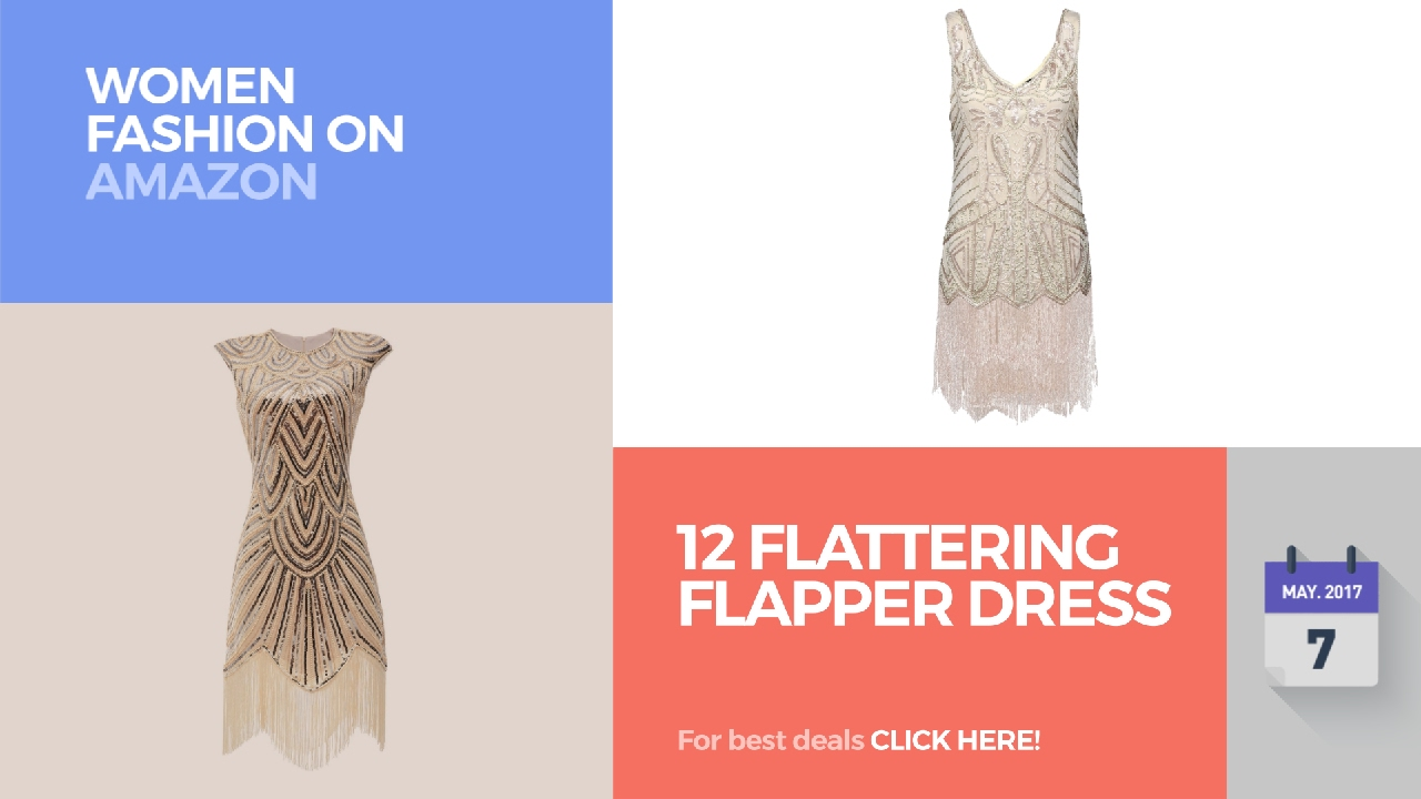 f27fff290222 12 Flattering Flapper Dress Women Fashion On Amazon - YouTube