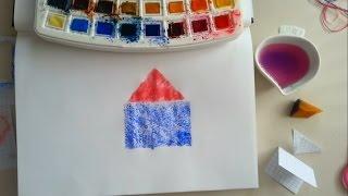 Krigami Elele Tutuşan çocuklar Sanatın Renkleri Sanatın Renkleri