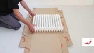 Zehnder Charleston. Как использовать упаковку радиатора для его защиты после монтажа.(Видео-инструкция.Zehnder Charleston. Как использовать упаковку радиатора для его защиты после монтажа., 2013-04-23T09:12:20.000Z)