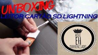 Unboxing Leitor Cartão SD Cabo Lightning Apple (PT-BR) HD
