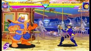Marvel Super Heroes [Arcade] - play as Thanos