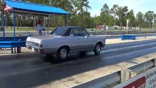 GTO 421 TriPower 1/4 mile run
