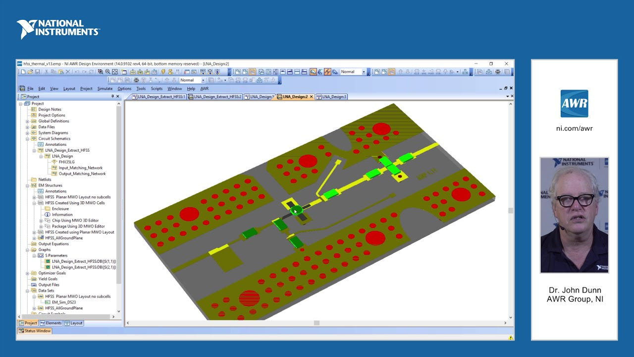 Feature: Microwave Office/ANSYS Thermal Co-Simulation